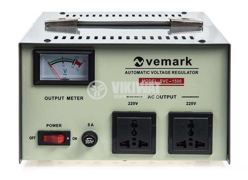 Стабилизатор на напрежение SVC-1500W 1500VA 220V