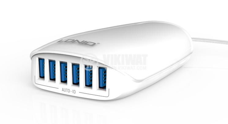 Charger for mobile devices and tablets, Ldnio, 6 port, 220V, 27W, 5.4A - 2