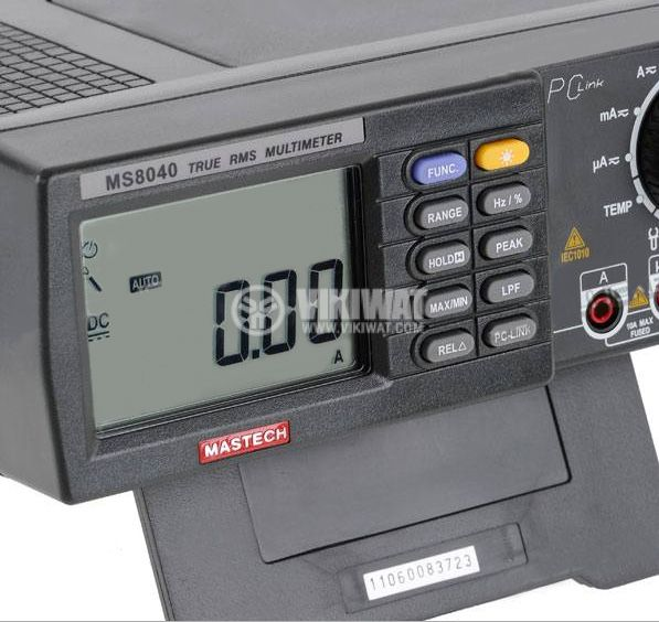 Digital Bench Top Multimeter MS8040 True RMS, RS232, Vac, Vdc, Aac, Adc, Hz, Ohm, F, °C - 2