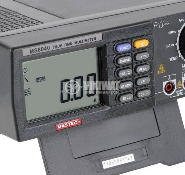 Цифров настолен мултиметър MS8040, True RMS, RS232, Vac, Vdc, Aac, Adc, Hz, Ohm, F, °C - 2