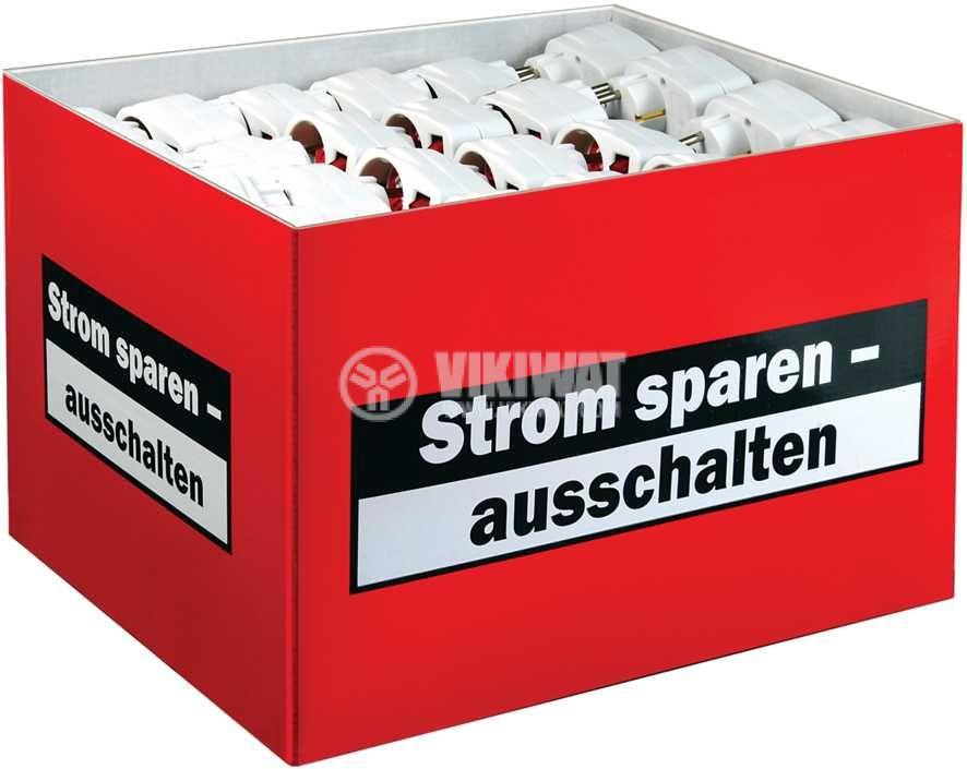 Адаптер с ключ за контакт Brennenstuh 1508070, 16A, 1 шуко - 1 шуко, 3500W - 2