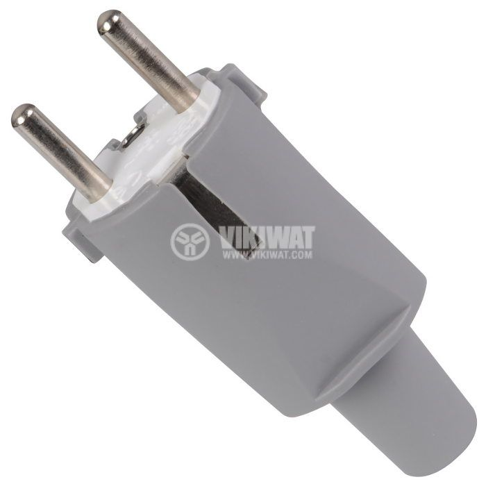 Electrical Schuko Plug, 220VAC,16А, bakelite, straight