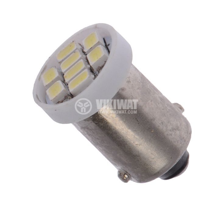 Auto LED festoon lamp, 12V, 8 LED, BA9S