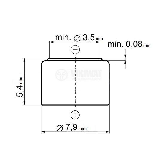 Battery 393, 1.55 V, 65 mAh - 2