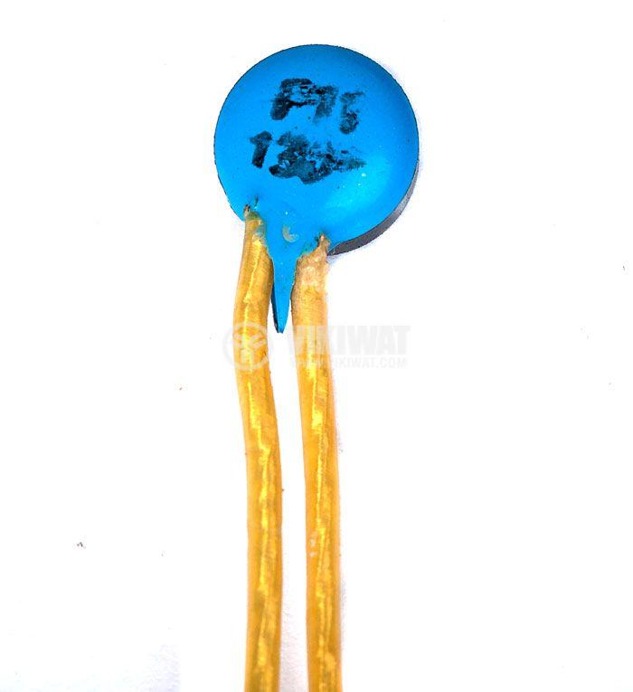 Термопластина, биметална, P15, 130°C, NC, 2 A / 250 VAC, пластмасов корпус