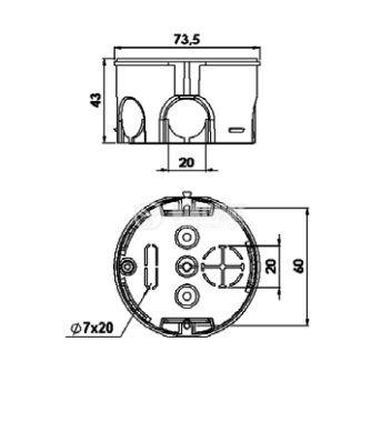 Кутия, конзола KU 68-1901 универсална, за стенен монтаж - 2