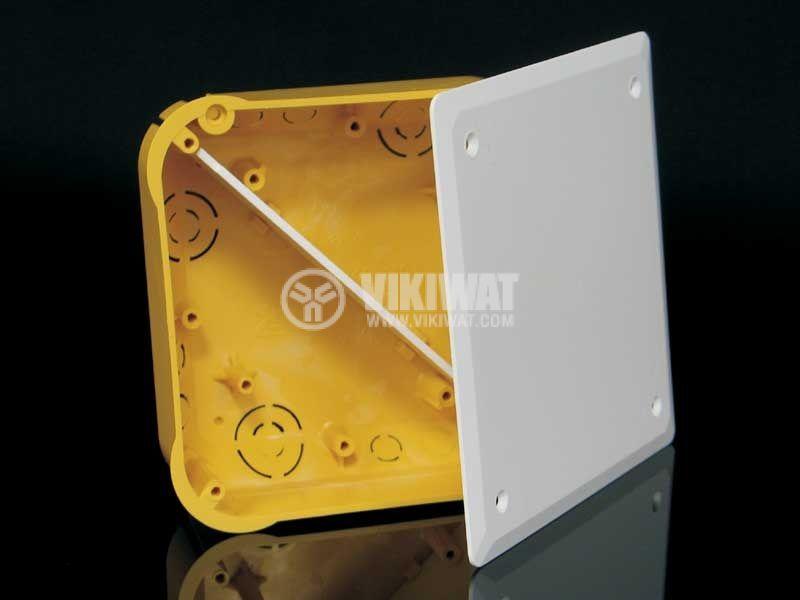 Разклонителна кутия KO110/L, с капак и преграда, за вграждане в стени от гипсокартон