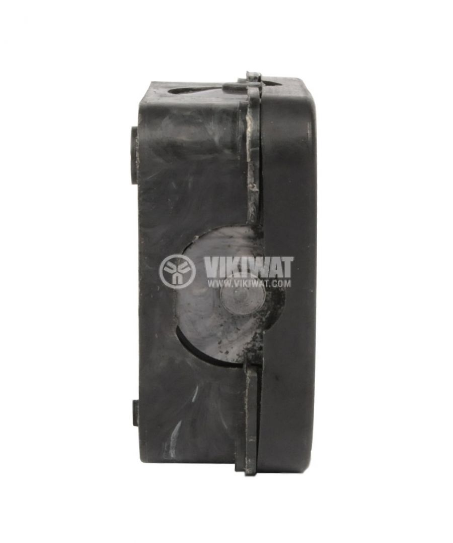 Junction box for outdoor installation, with cover, black, PVC, 72x72x33mm - 2