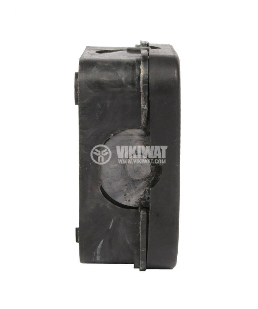 Кутия, разклонителна, за външен монтаж, с капак, черна, PVC, 72x72x33mm - 2