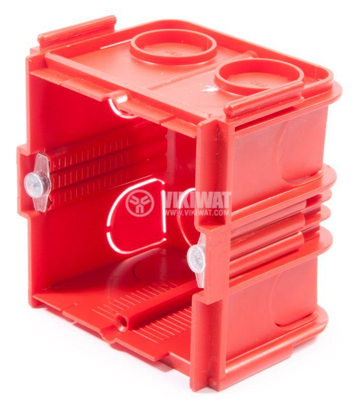 Универсална кутия, конзола за стени от мазилка, PVC, 75x50mm - 1