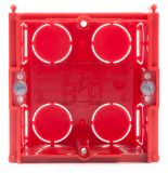 Universal box, console for plaster walls, PVC, 75x50mm - 2