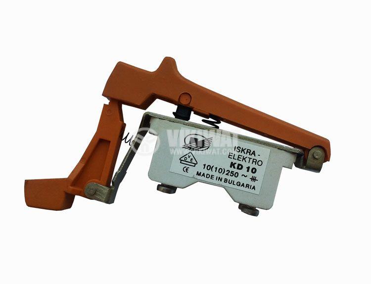 Електрически прекъсвач (ключ) за ръчни електроинструменти KD10 10A/250VAC 2NO - 1