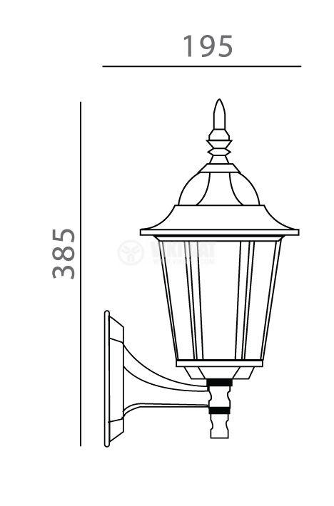 Градинска лампа Pacific Small 04, Е27, висяща - 2