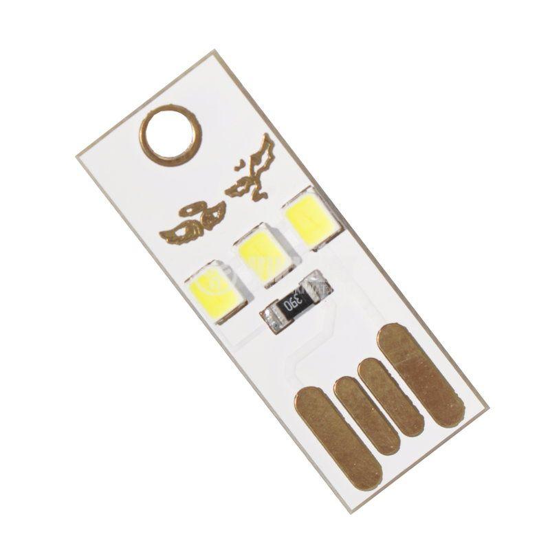LED лампа за лаптоп или за контакт на USB, студено бяла