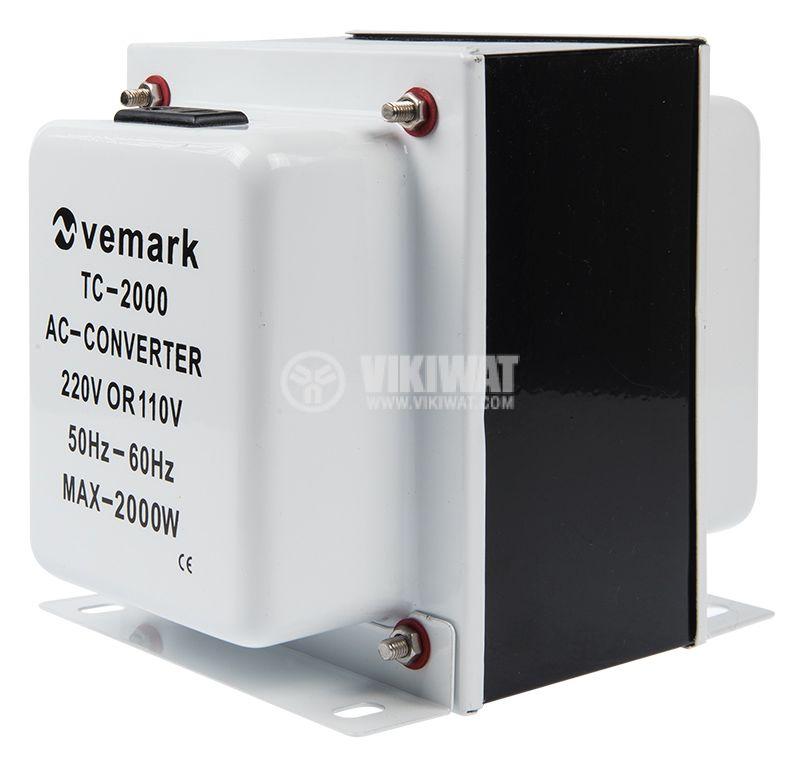 Converter, 2000W, 220VAC-110VAC, TC-2000 - 2