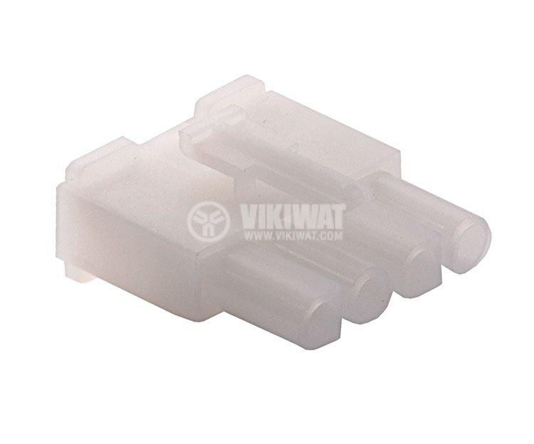 Конектор за обемен монтаж мъжки, VF67001-4R, 4 пина - 1