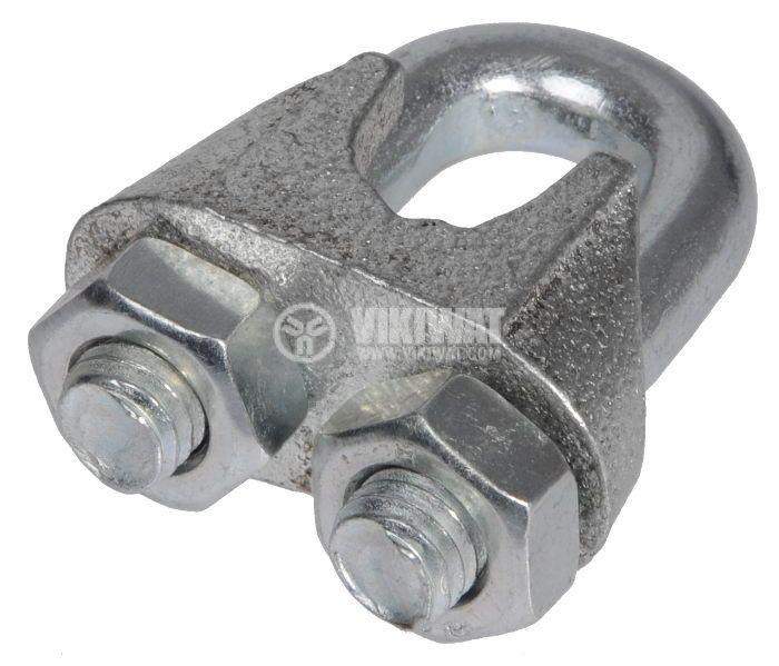 Клипс, скоба за метално въже ф12 mm - 3