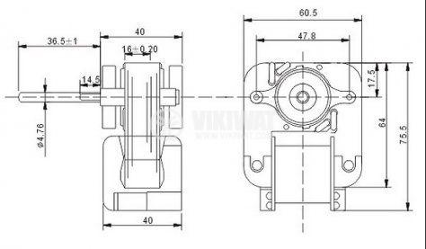 Електродвигател за хладилни инсталации SM672 22-99E 220-240VAC 50Hz 22W 0.22A 900r/min - 2