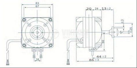 Електродвигател за хладилни инсталации HL-YJF10 220-240VAC 50/60Hz 10W 0.35A 1300r/min - 2