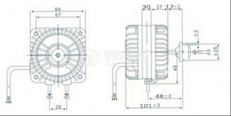 Електродвигател за хладилни инсталации HL-YJF18 220-240VAC 50/60Hz 18W 0.50A 1300r/min - 2