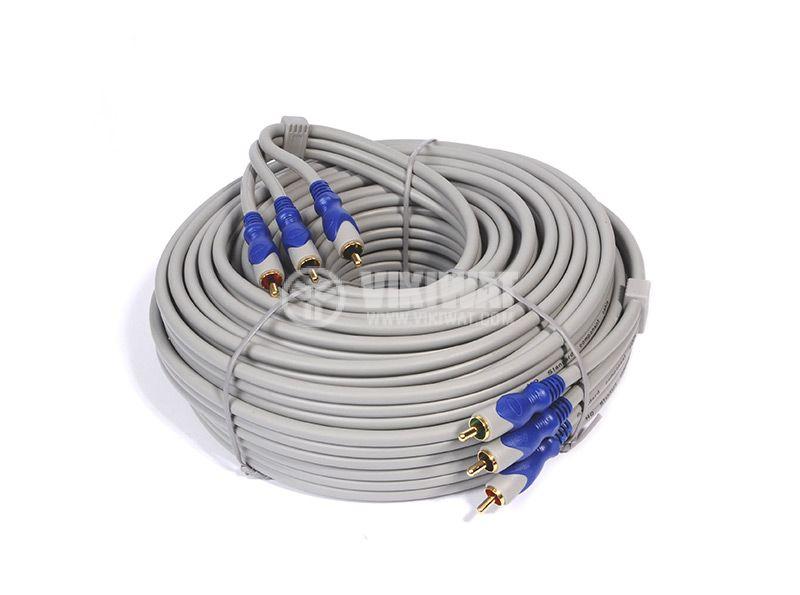 Cable, 3xRCA/m-3xRCA/m, 15m - 1