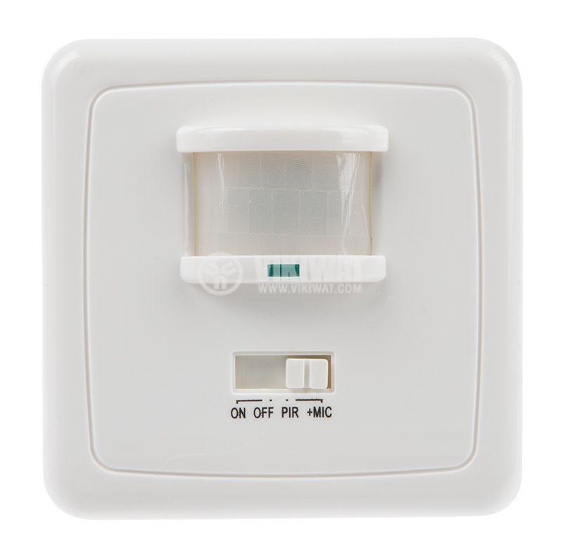 PIR шалтер BL402, 220VAC, 500W / 300W, 140°, 12m - 1