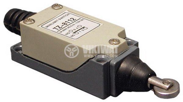 Краен изключвател, TZ-8112, SPDT-NO+NC, 5A/250VAC, щифт с ролка - 1