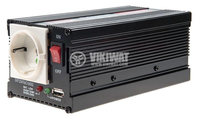 Инвертор V301-400-USB-24, 24VDC - 220VAC, 400W, с USB, модифицирана синусоида - 1