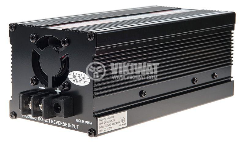Инвертор V301-400-USB-24, 24VDC - 220VAC, 400W, с USB - 2