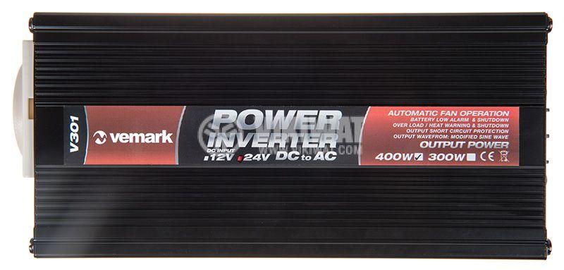 Инвертор V301-400-USB-24, 24VDC - 220VAC, 400W - 3