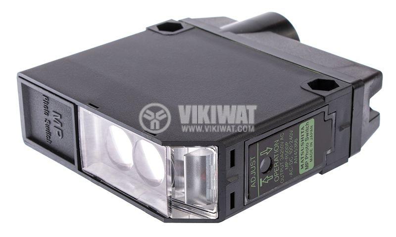 Photoelectric switch MP-R500P, NO+NC, retroreflective,100-240VAC/DC, range 3m - 1