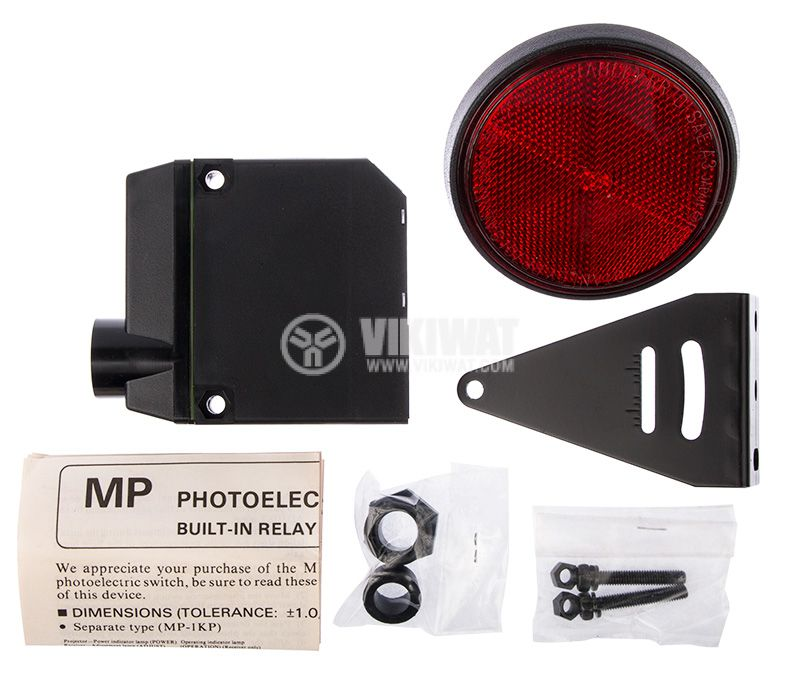 Photoelectric switch MP-R500P, NO+NC, retroreflective,100-240VAC/DC, range 3m - 2