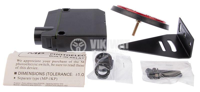 Photoelectric switch MP-R500P, NO+NC, retroreflective,100-240VAC/DC, range 3m - 3