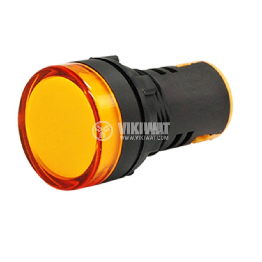 Индикаторна лампа LED, AD22-22DS/Y, 220 VDC, жълта