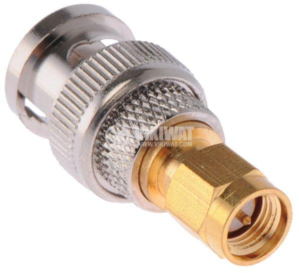 Adapter BNC plug, SMA socket - 2