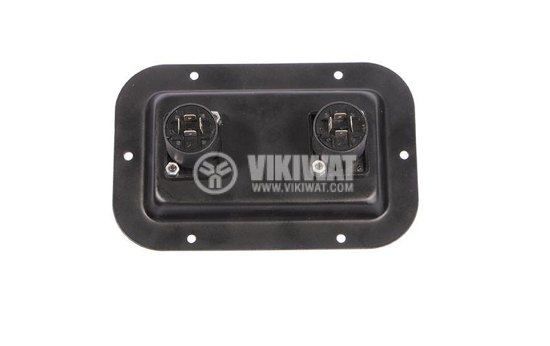 Spikon, terminal, speakers, type pelvis, metal 2 x Connectors 4.8 mm - 2