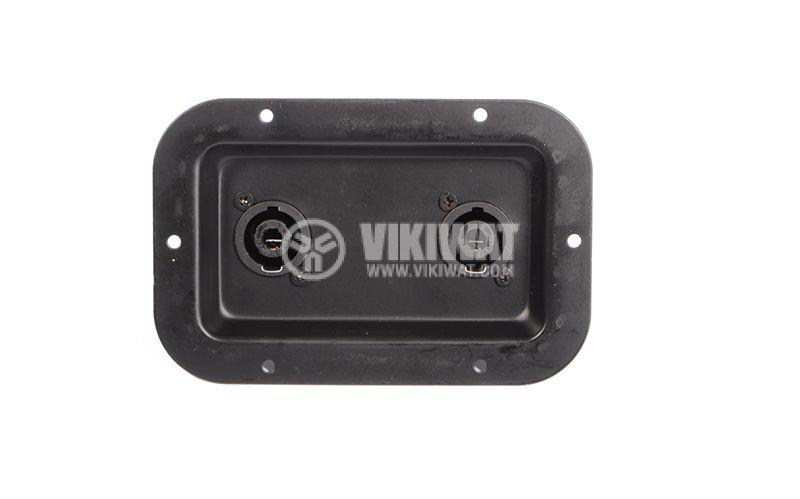 Spikon, terminal, speakers, type pelvis, metal 2 x Connectors 4.8 mm - 3