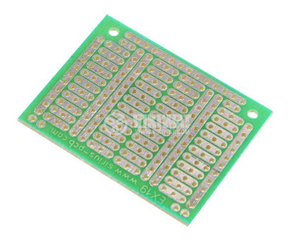 Universal PCB, single sided, EX19, 37x48mm, 2.54mm