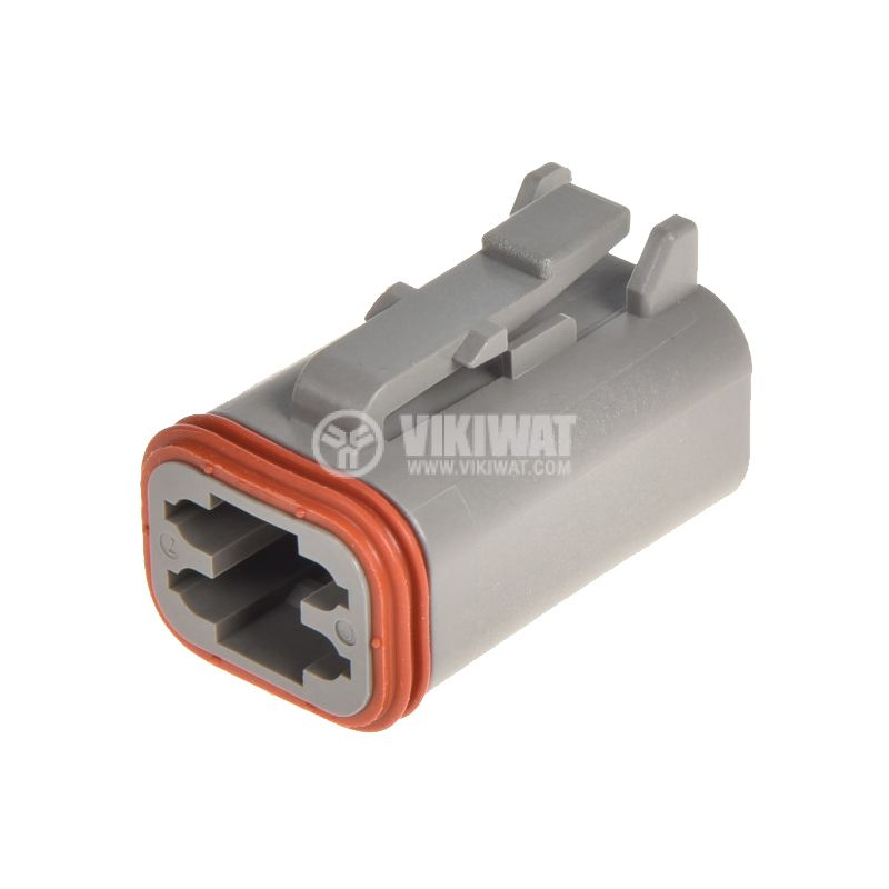 Connector DT06-4S, 4 pins, 13A, with pins - 2