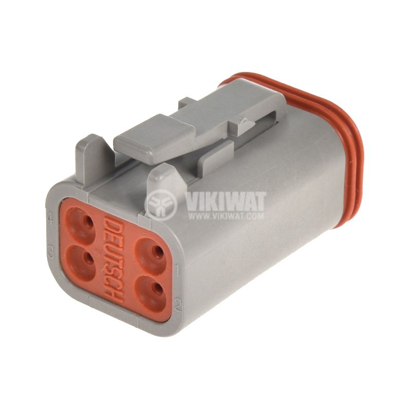 Connector DT06-4S, 4 pins, 13A, with pins - 3