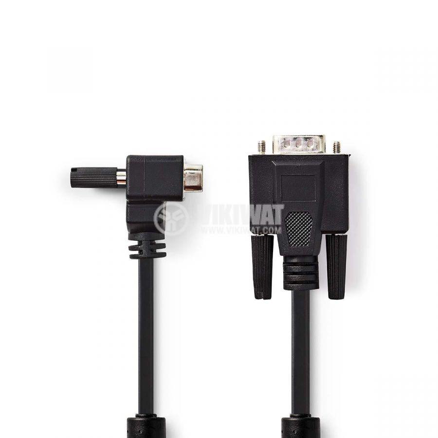 Кабел видео, VGA/m-VGA/m 90°, 15pin, 2m - 1