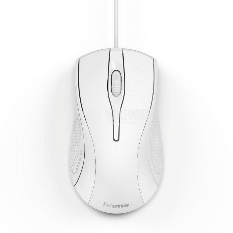 Оптична мишка HAMA MC-200, 3 бутона, USB, бяла