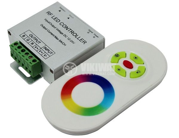 LED RF controller with sensor BY09-0120, 12-24VDC, 18A, 216W, IP20 - 1