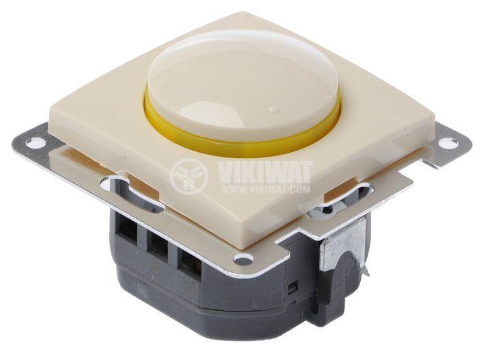 Електрически ключ, LEXA LM, вграждане, димер, 2A, 250VAC, крем, светещ