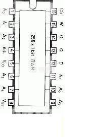 Интегрална схема 4720, CMOS, 256-bit, 1-bit per word random access memories, DIP16 - 2