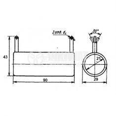 Резистор, керамичен, С-5-36В, 50 W, 27 Ohm - 2