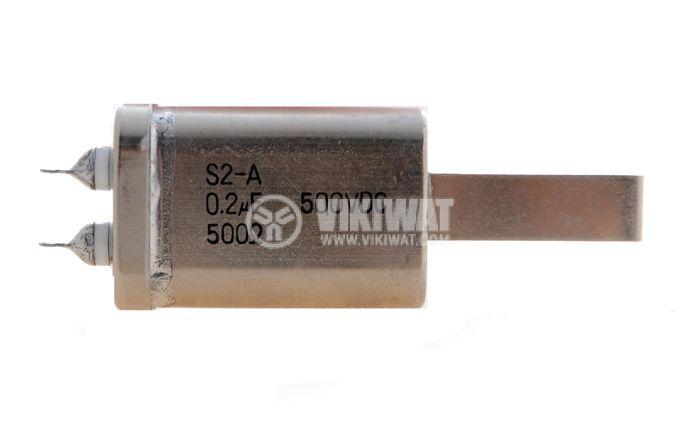 Кондензатор, 0.2 µF+500 Ohm, 500 VDC