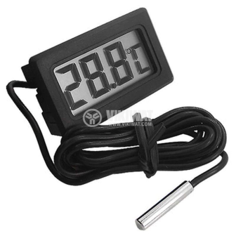 Термометър, измерване на вътрешна / външна температура, -50C до +70°С, със сонда - 1