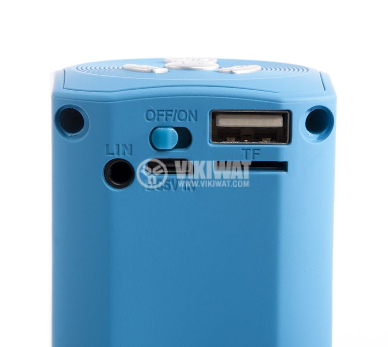 Universal stereo Bluetooth, blue X6 speaker, USB port, micro SD port, Hands-free, FM radio - 4