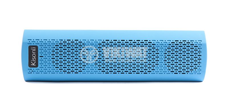 Universal stereo Bluetooth, blue X6 speaker, USB port, micro SD port, Hands-free, FM radio - 1